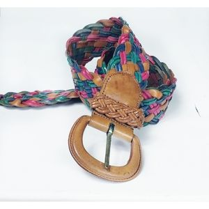 Multi-Colored Braided Leather Belt size 3X